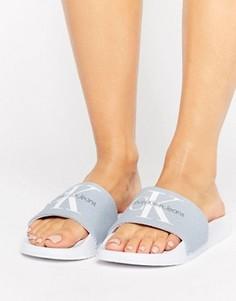 Шлепанцы для бассейна из шамбре Calvin Klein Jeans Chantal - Синий