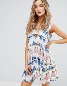 Пляжное платье с геометрическим принтом Surf Gypsy - Мульти