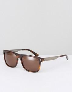 Солнцезащитные очки в квадратной оправе CK Collection - Коричневый Calvin Klein