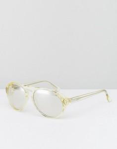 Солнцезащитные очки-маска Calvin Klein - Желтый