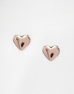 Миниатюрные серьги-гвоздики в форме сердец Ted Baker Harly - Золотой