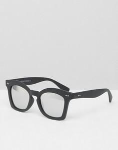 Солнцезащитные очки в массивной оправе 7X - Черный