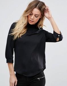 Рубашка с высоким воротом и рукавами 3/4 Vero Moda - Черный