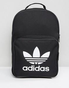 Черный рюкзак с карманом спереди adidas Originals Trefoil BK6723 - Черный