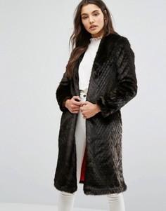 Легкое пальто ограниченной серии без воротника Helene Berman Suki - Коричневый