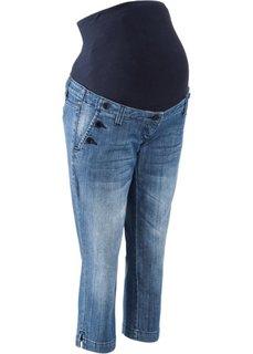 Джинсы для беременных длины 3/4 (синий «потертый») Bonprix