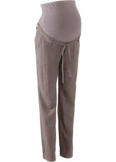 Для будущих мам: льняные брюки (бурый) Bonprix