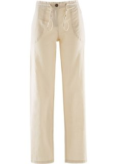 Льняные брюки (каменно-бежевый) Bonprix
