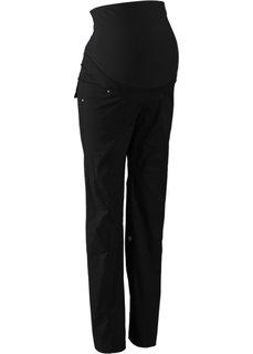 Для будущих мам: брюки с отворотами (черный) Bonprix