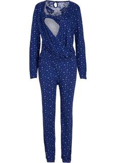 Для будущих мам: комбинезон с функцией кормления (ночная синь/цвет белой шерсти с рисунком) Bonprix