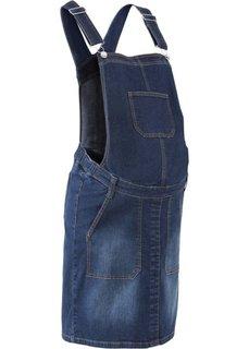 Для будущих мам: джинсовое платье-комбинезон (темный деним) Bonprix