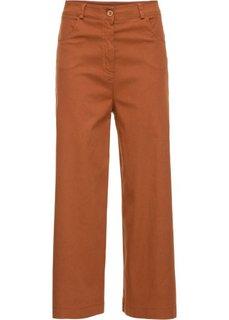 Широкие стрейтчевые брюки длины 7/8 (коричневый) Bonprix