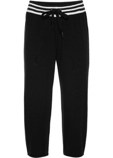 Трикотажные брюки 3/4 (черный) Bonprix