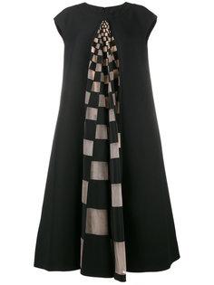 платье с клетчатой вставкой Fendi