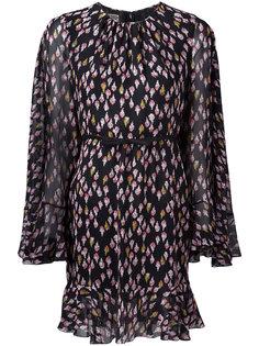 прозрачное платье с цветочным принтом Giambattista Valli