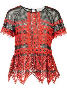 прозрачная блузка с оборками Jonathan Simkhai