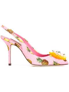 туфли-лодочки с принтом ананасов Dolce & Gabbana