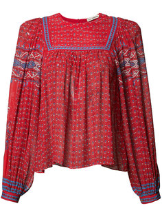 patterned pleated blouse Ulla Johnson