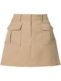 юбка с накладными карманами Theory