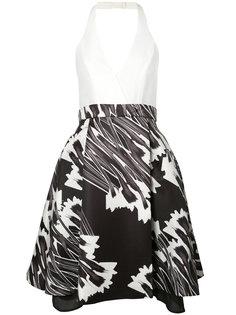 flared halter-neck dress Halston Heritage