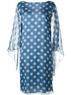 полупрозрачное платье-шифт Alberta Ferretti