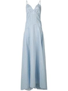 расклешенное платье макси в полоску Rosie Assoulin