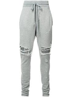 спортивные брюки с рваными деталями Amiri