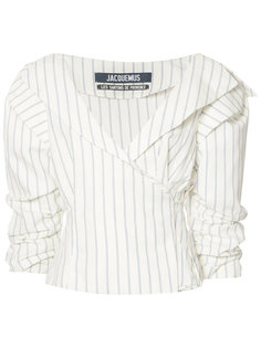 striped ruffled-sleeve blouse Jacquemus