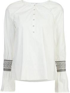 рубашка с вышивкой на рукавах Derek Lam 10 Crosby