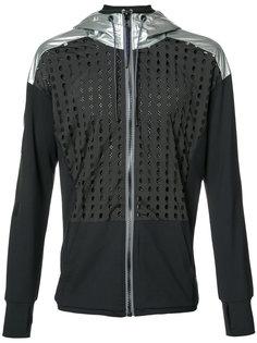 mesh and metallic panel hoodie Diesel