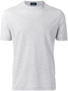 однотонная футболка  Zanone