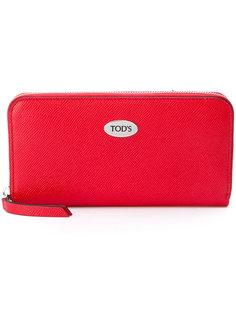 кошелек на молнии с логотипом Tods Tod`S