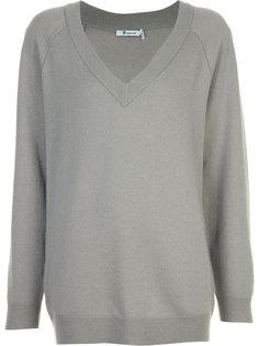 свободный свитер с V-образным вырезом T By Alexander Wang
