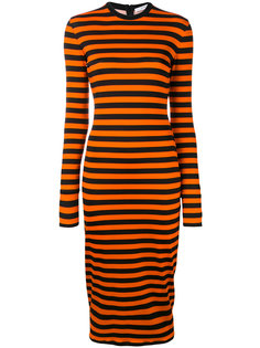 приталенное полосатое платье  Givenchy