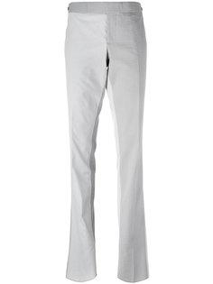 полосатые брюки с контрастными панелями Thom Browne