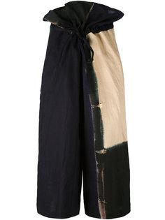 укороченные широкие брюки  Ys Y`s