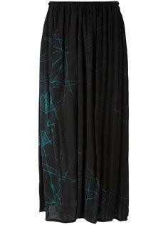 присборенная юбка с абстрактным принтом  Ys Y`s