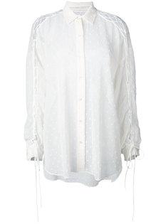 рубашка со шнуровкой на рукавах  Iro