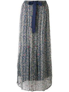 прозрачная юбка с цветочным принтом Twin-Set