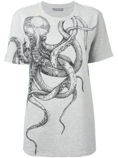 футболка с принтом осьминога Alexander McQueen