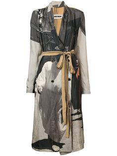 пальто с поясом и принтом Uma Wang