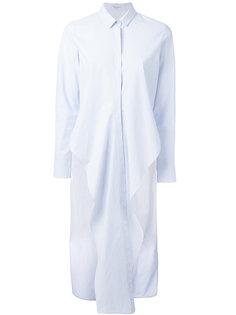удлиненная рубашка с шлицами по бокам Brunello Cucinelli