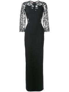 длинное платье с кружевными рукавами Ermanno Scervino