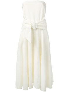махровое платье без бретелей Lacoste