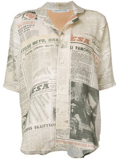 рубашка с газетным принтом Cherevichkiotvichki