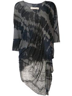 асимметричная блуза с узором в виде разводов Raquel Allegra
