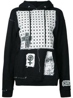patch detailed hoodie Heikki Salonen