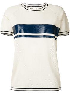 футболка с контрастной полосой Roberto Collina