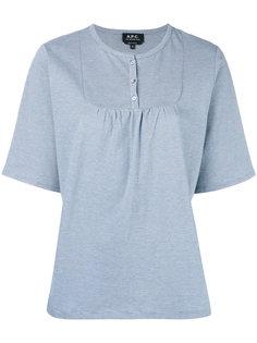 футболка с нагрудной панелью A.P.C.