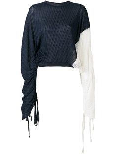 плиссированная асимметричная блузка Marni